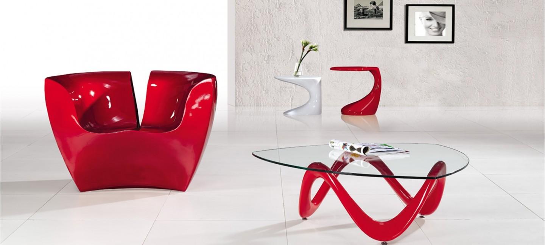 table basse design rouge prix bas garantie. Black Bedroom Furniture Sets. Home Design Ideas