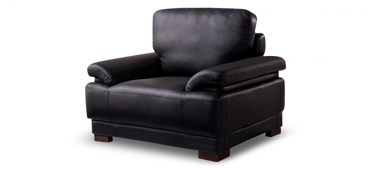 fauteuil design cuir noir exp di en 24h. Black Bedroom Furniture Sets. Home Design Ideas
