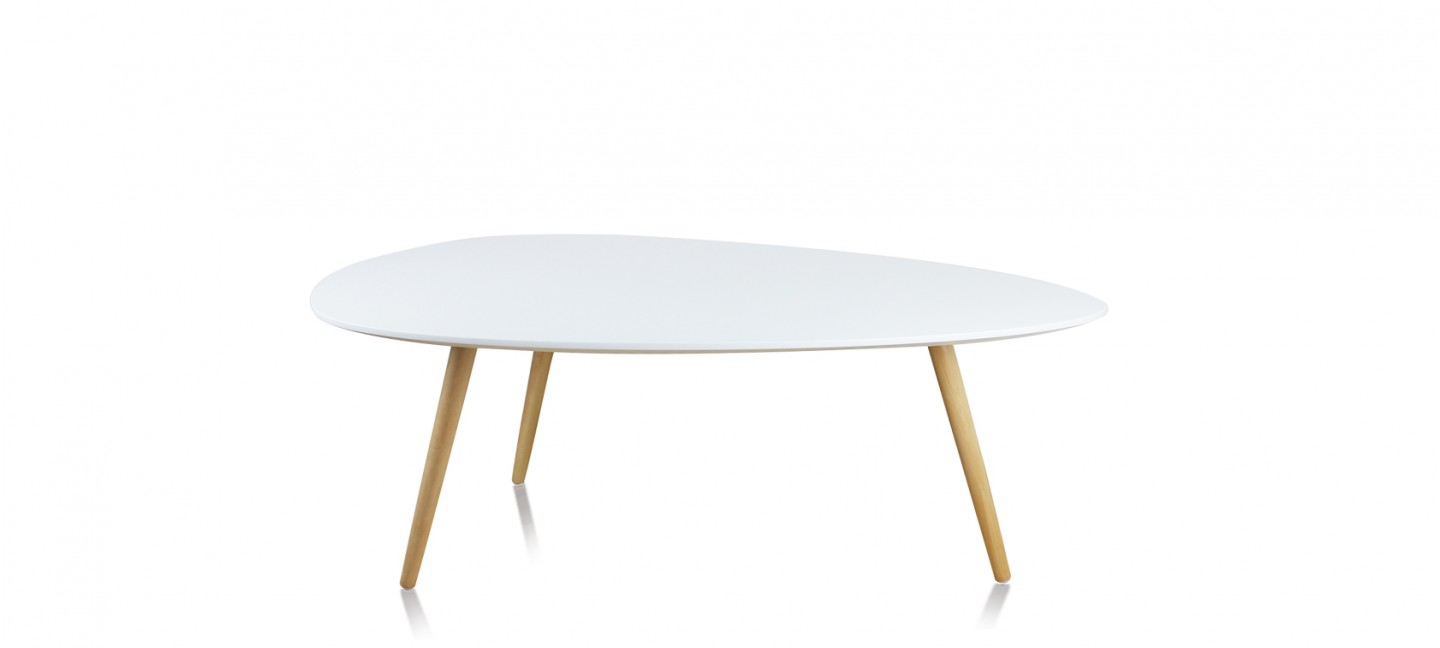 Table ovale scandinave for Table scandinave blanche
