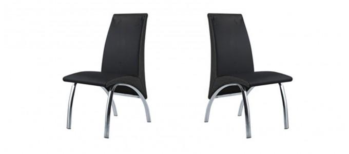 Chaise salle à manger noire - Oka