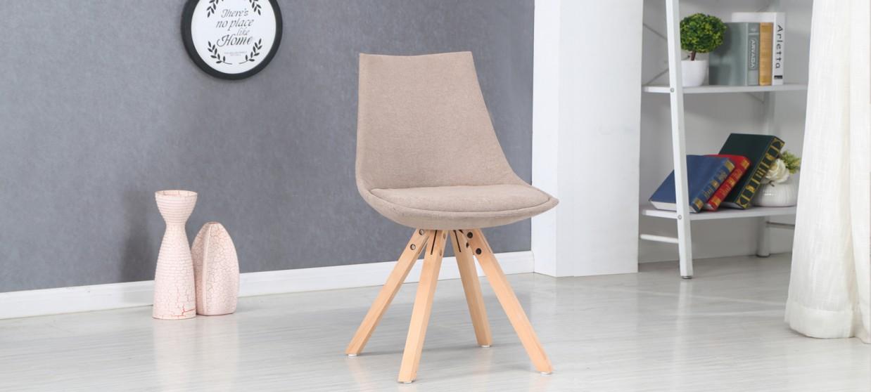 chaise scandinave en tissu beige minsk - Chaise Scandinave Beige