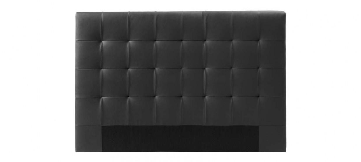 Tête de lit capitonnée noire 180cm - Confort
