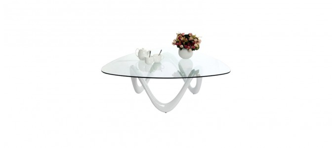 Table basse design blanche - Niagara