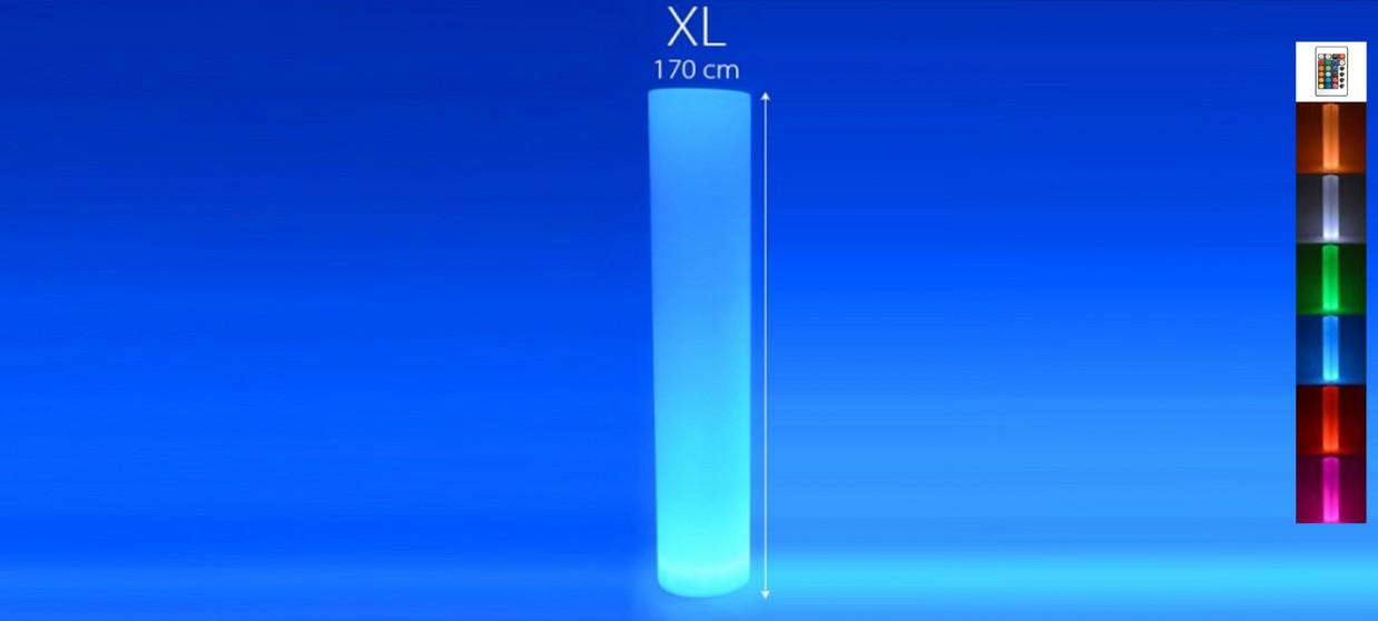 Colonne lumineuse à LED ronde 170 cm multicolore