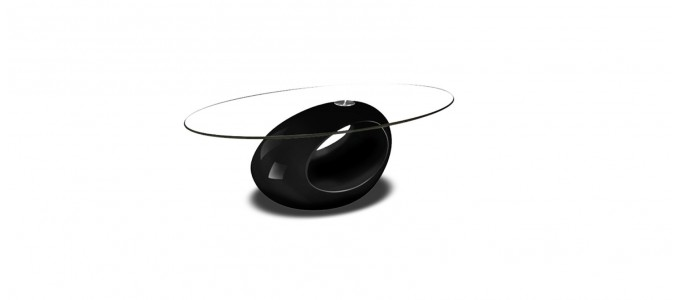 Table basse design noire - Symbiose