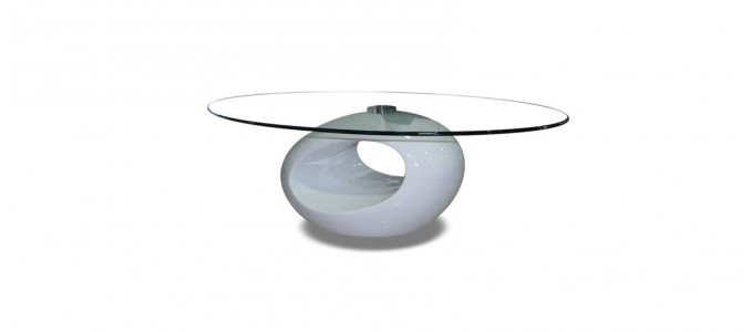 Table basse design blanche - Symbiose