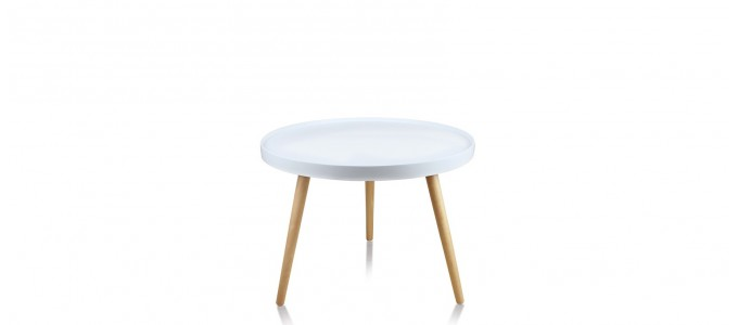 Table basse ronde blanche - Pristina