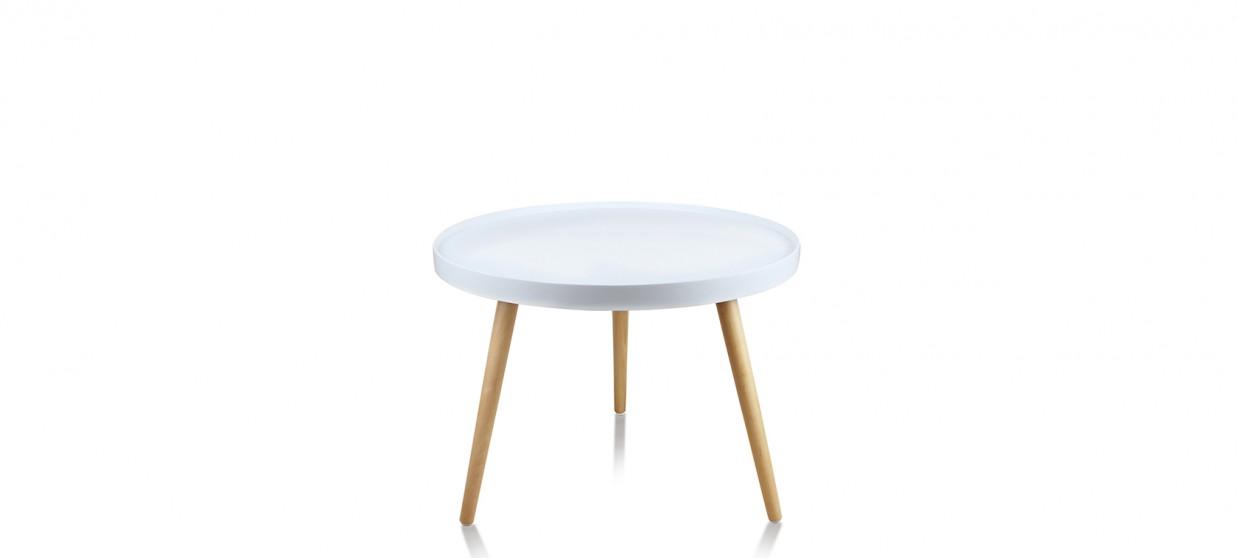 Table basse ronde blanche - Pristina