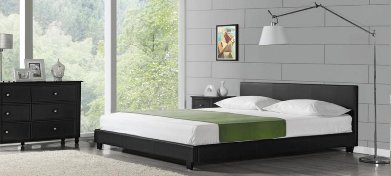 lit design marron zen. Black Bedroom Furniture Sets. Home Design Ideas