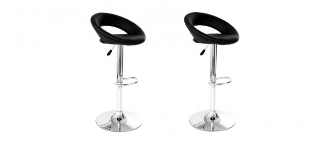 Lot de 2 tabourets design noir - Palm
