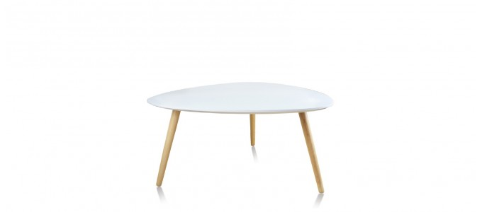 Table basse scandinave ovale blanche - Pristina
