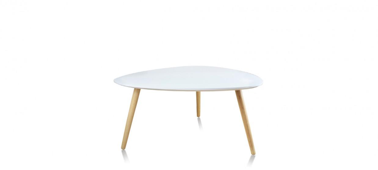 le dernier e0071 2d4ba Table basse scandinave ovale blanche - Pristina