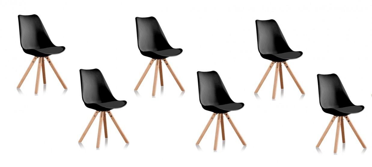 scandinaves 6 Helsinki noires chaises de Lot lFKu3T1Jc