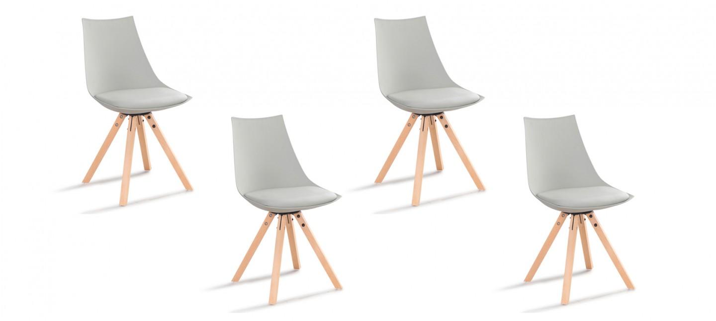 lot chaises grises garantie 2ans. Black Bedroom Furniture Sets. Home Design Ideas