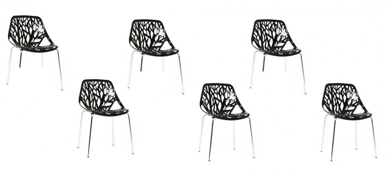 Lot de 6 chaises discount noires - Lily