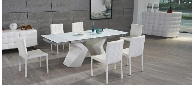 Table à manger extensible blanche - Optima