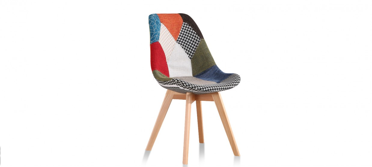 chaise scandinave patchwork prague - Chaises Scandinave