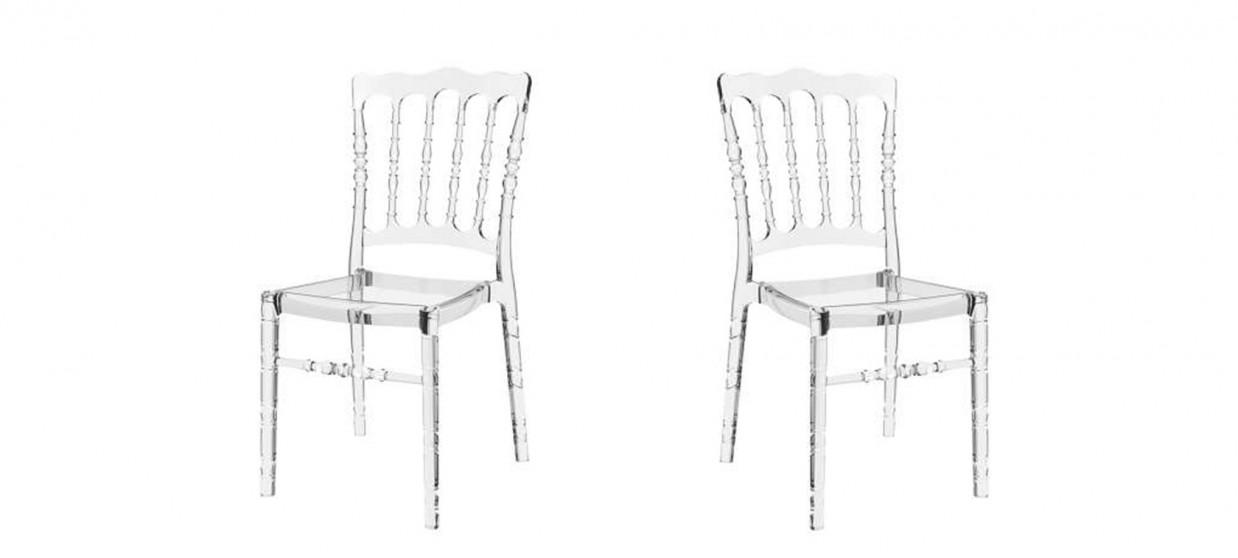 chaise design transparente bonaparte - Chaise Transparente Design