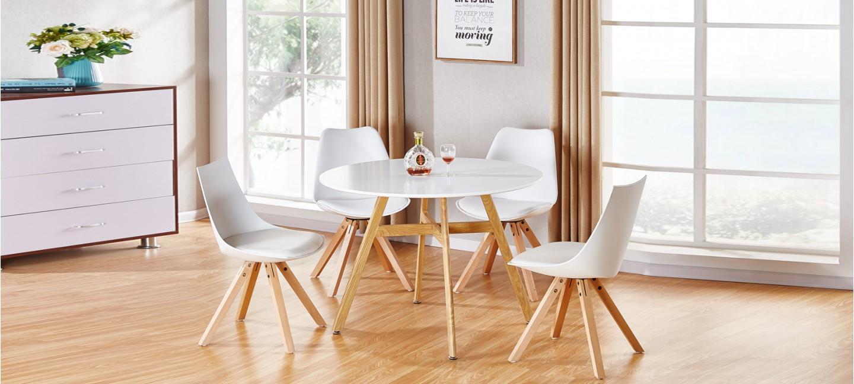 Table À Manger Nordique table à manger scandinave ronde blanche 100cm - umbria