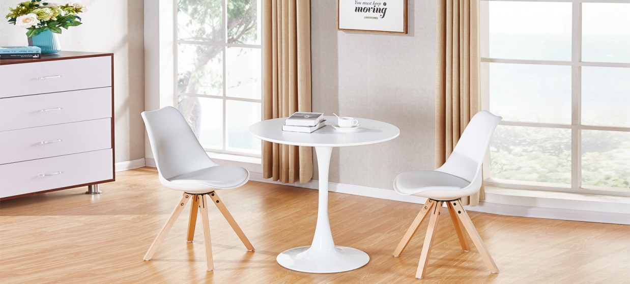 Table A Manger Ronde Blanche.Table A Manger Design Ronde Blanche 80cm Abrezzo