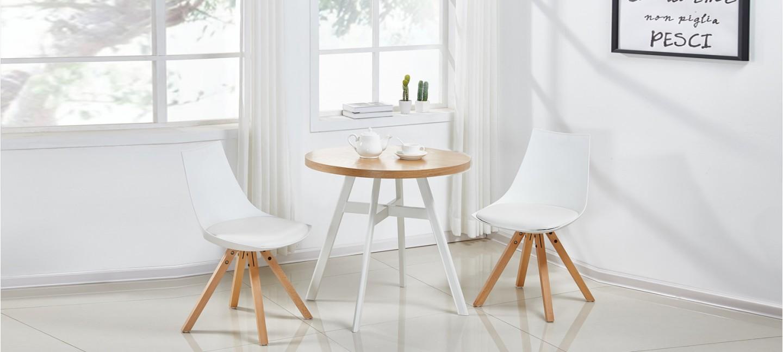Table À Manger Nordique table à manger scandinave ronde chêne 80cm - puglia