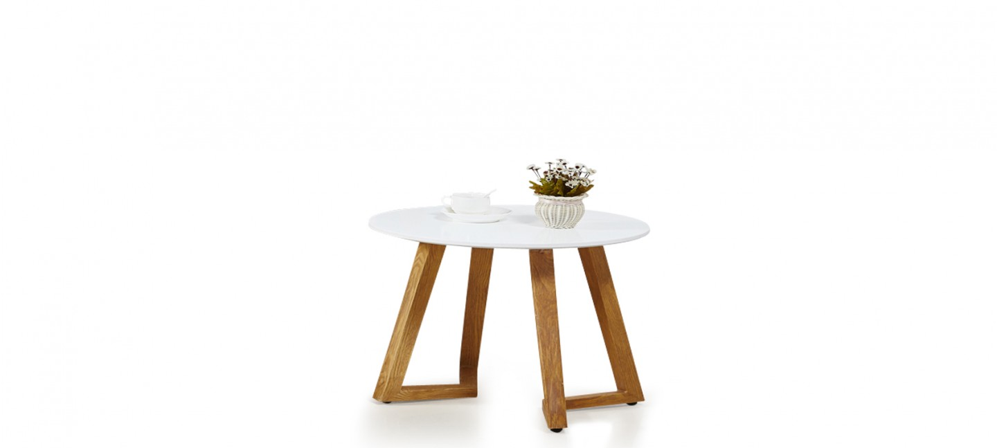 Table Salon Ronde Blanche table basse scandinave ronde blanche - ygg