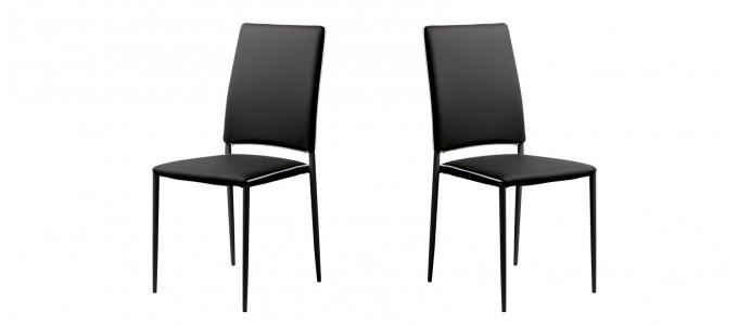 Chaise salle à manger noire - Tudelia