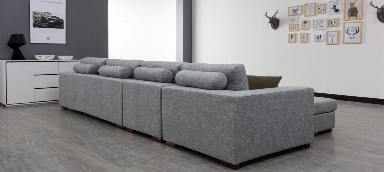 Canapé En Toile De Jute opera meubles designetsamaison canapé dangle droit en tissu
