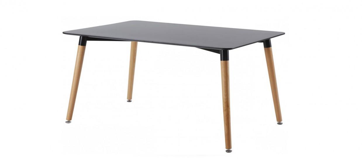 Table A Manger 120 Cm.Table A Manger Rectangulaire Design Noire 120cm Brevik
