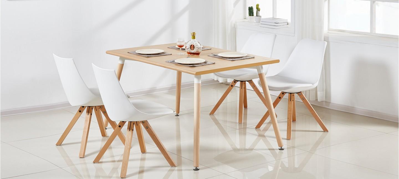 Table À Manger Nordique table à manger rectangulaire scandinave chêne 120cm - brevik