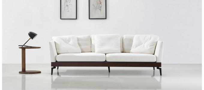 Canapé 3 places en tissu blanc - Spirit