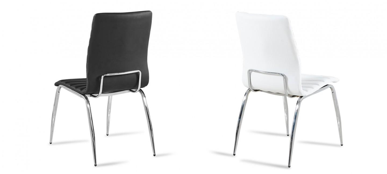 Lot De 6 Chaises Matelassees Noires Design