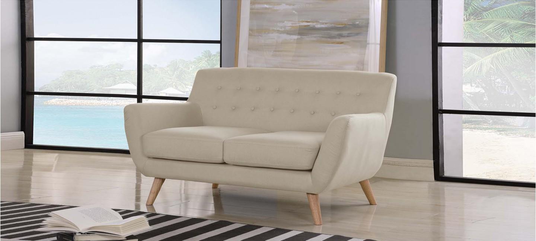 Canapé En Toile De Jute designetsamaison canapé scandinave 2 places taupe beige