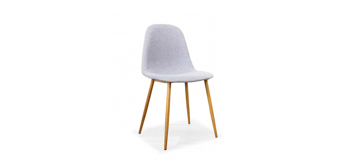 Chaise scandinave grise - Romano