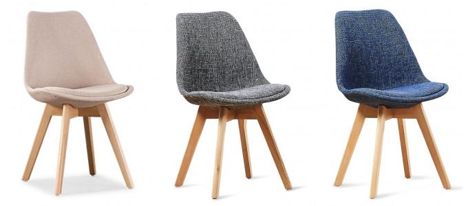 Chaise scandinave tissu - Bjorn