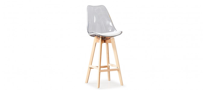 Tabouret de bar scandinave transparent - Gotteborg