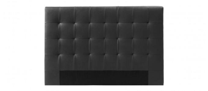 Tête de lit capitonnée noire 160cm - Confort